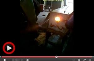中频锻造炉和自动上料设备在客户现场